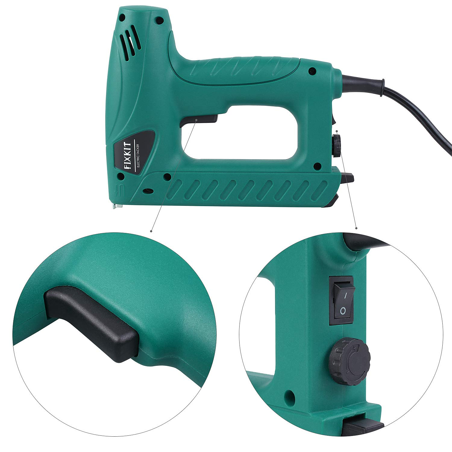 FIXKIT Electric Staple/Brad Nail Gun Hand Tacker Flooring Framing Nailers Kit, Suit For Upholstery, Fixing Material, Decoration, Carpentry, Furniture by FIXKIT (Image #4)