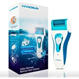 hangsun pour callosités électrique rechargeable dvp-sr150Pied Kit d'entretien électrique avec alimentation et 2rouleaux de rechange pédicure