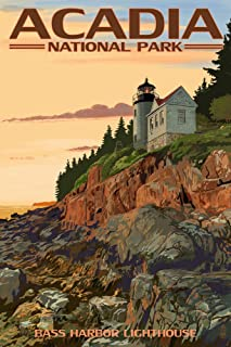 product image for Acadia National Park, Maine, Bass Harbor Lighthouse 40952 (16x24 SIGNED Print Master Art Print, Wall Decor Poster)