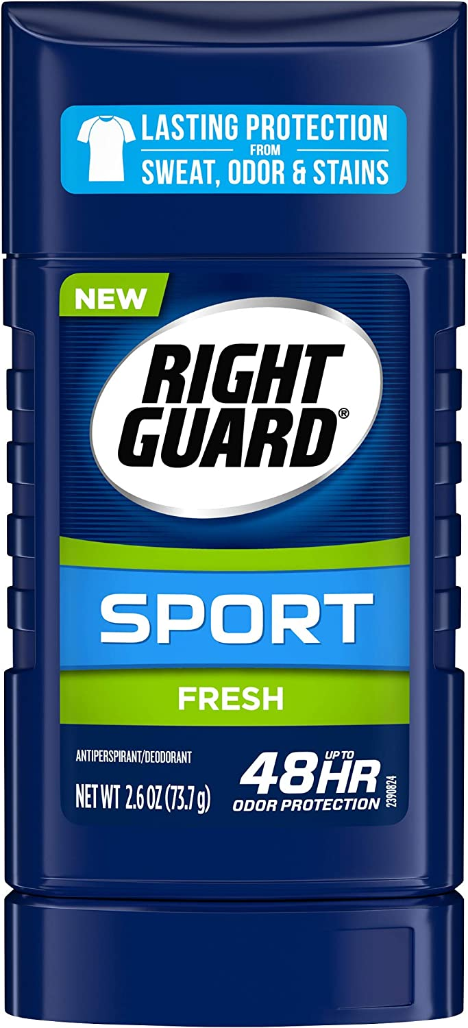 Right Guard Sport Antiperspirant Deodorant Invisible Solid Stick, Fresh, 2.6 Ounce Pack of 6