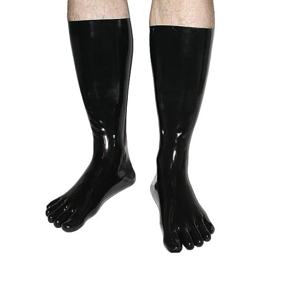 alto goma dedo del pie calcetines de látex en diferentes colores y tama?os: Amazon.es: Ropa y accesorios