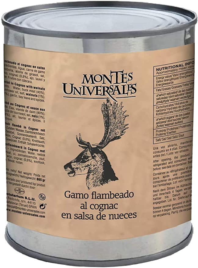 Gamo flambeado al cognac en salsa de nueces Montes Universales (865g)