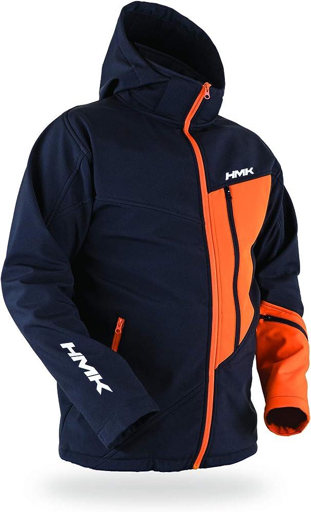 Black//Orange, XS HMK Pinnacle Softshell Jacket