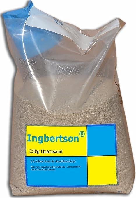Beliebt Ingbertson® 25kg Quarzsand 0,4-0,8mm Sand für Sandfilteranlage TD26