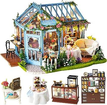 DIY Hölzernes Puppenhaus Miniatur Kit Cover Puppenhaus Möbel Rentier