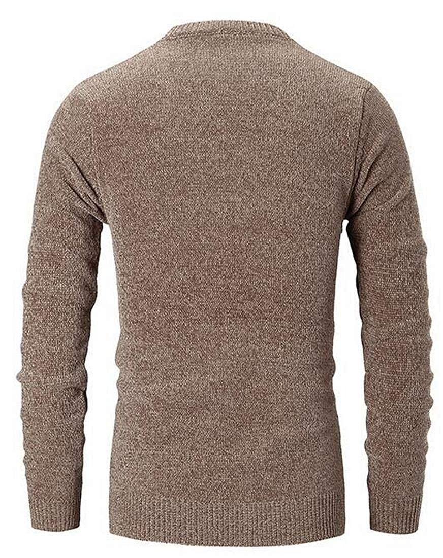 YIhujiuben Mens Cozy Knitwear Slim Fit Turtleneck Sweater Jumper