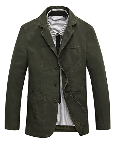 Gihuo Men's Casual Slim Fit Three/Two-Button Suit Jacket Blazer ...