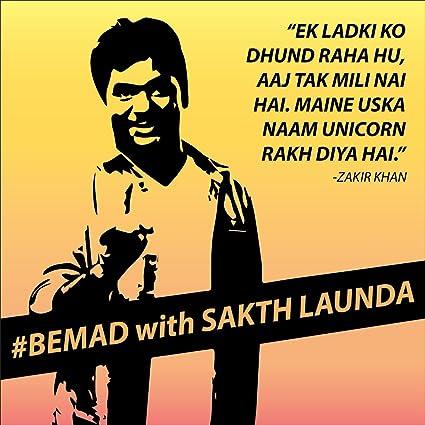 Buy Poster By Sticker Adda Self Adhesive Zakir Khan Comedian Funny