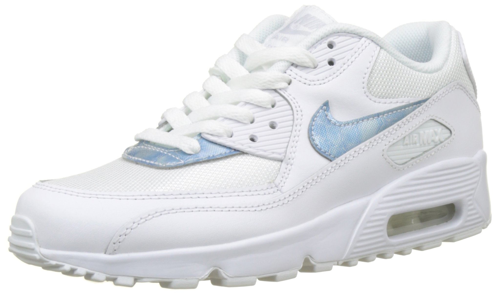 49bde63b3f Galleon - Nike Air Max 90 Mesh GS Running Trainers 833418 Sneakers Shoes  (UK 3.5 Us 4Y EU 36, White Royal 111)