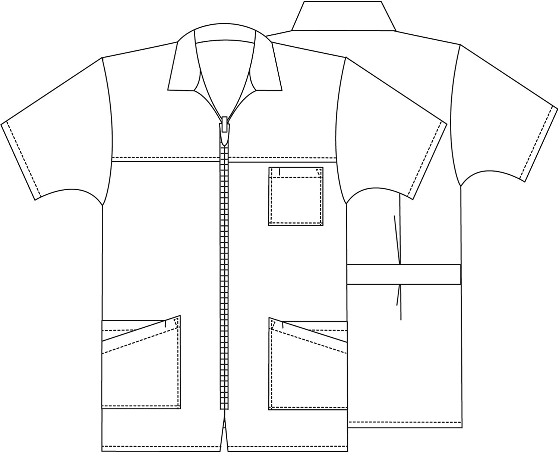 Adar Scrub Jacket for Men Work Jacket for Nurses /& Doctors