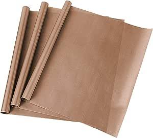 "SS SHOVAN 3 PCS PTFE Teflon Sheets for Heat Press Transfers Sheet 16"" x 16"" Non Stick Reusable Heat Resistant Craft Baking Mat"