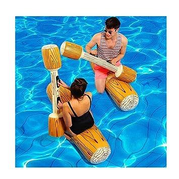 Gigante Inflable Flotador Barco Playa Piscina De Natación Batir Natación Log Stick Balsa Agua Diversión Juguetes