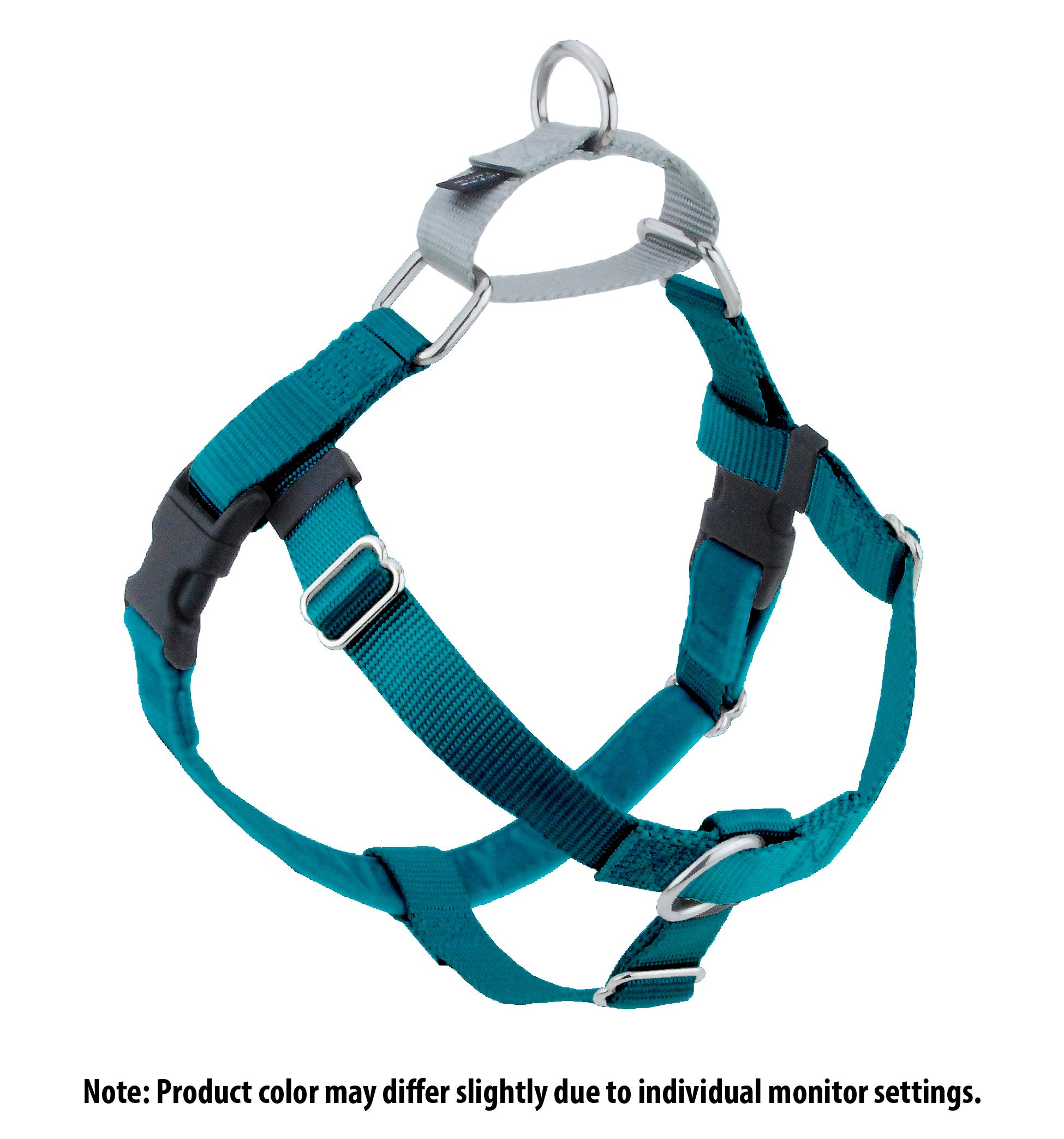 2 Hounds Design Freedom No-Pull Dog Harness, Adjustable Comfortable Control Dog Walking, Made in USA (Leash Sold Separately) (Medium 1'') (Teal)