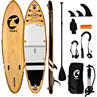 """TUSY Inflatable Stand Up Paddle Board 10'6""""×33""""×6"""" with Premium Sup Accessories & Backpack, Camera Mount, Wide Stance…"""