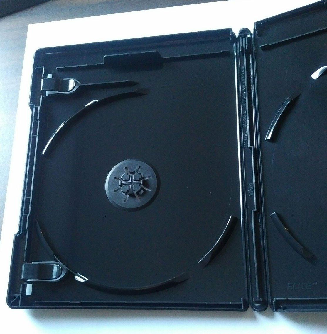 NEW! 5 PK Premium VIVA ELITE Double Discs 4K Ultra HD Black Blu-ray Replace Case Holder