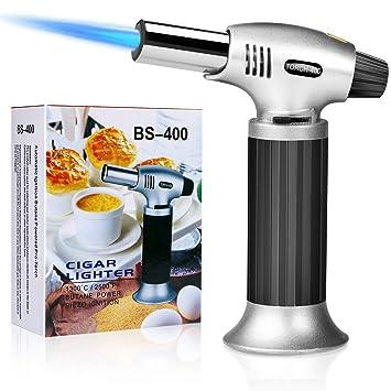 amazon com buluri culinary butane torch windproof culinary torch rh amazon com