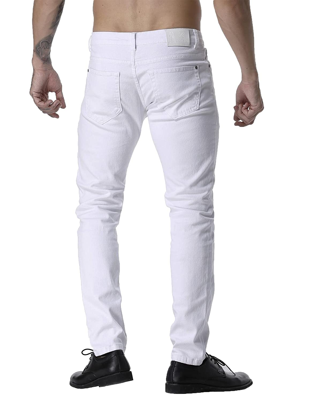 ZLZ Mens Slim Fit Stretch Comfy Fashion Denim Jeans Pants