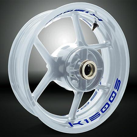 Stickman Vinyls Reflektierende Blau Motorrad Inner Rim Tape Decal Aufkleber Kompatibel Mit Bmw K1300s Auto