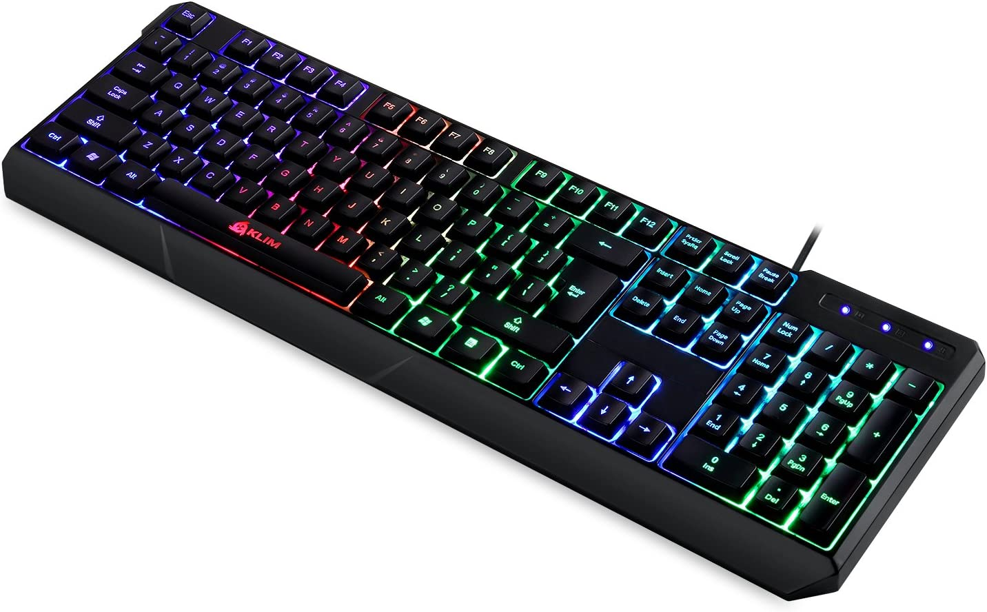 5e500f536af ⭐️Klim Lightning Semi Mechanical Gaming Keyboard - Wired USB - Led 7 Colors  Light - Metal Frame - Ergonomic, ...