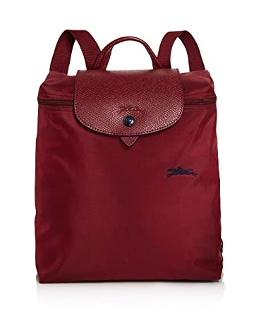 03a34142121ee Longchamp Le Pliage Club Nylon Backpack (Garnet Red)