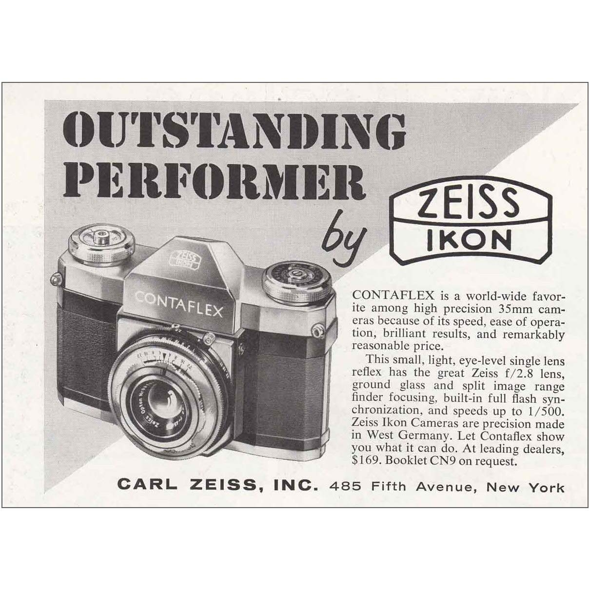Amazon com: RelicPaper 1955 Zeiss Ikon Contaflex Camera
