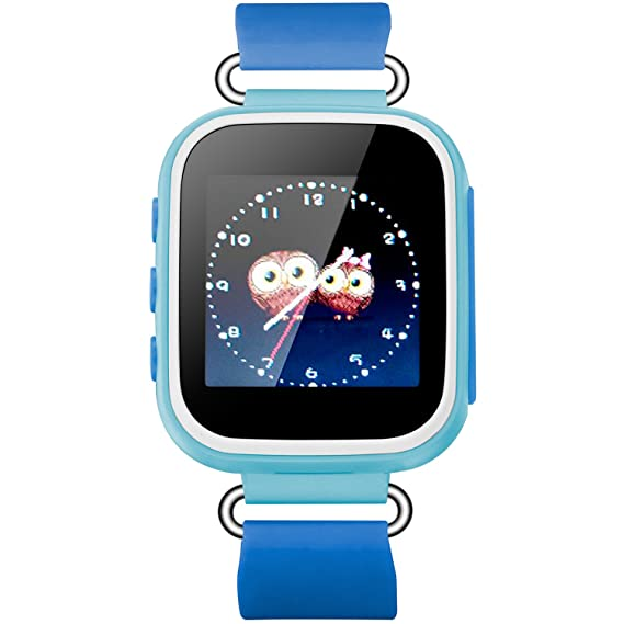 Pantalla táctil Smart Watch GPS Tracker para Iphone iSO y Android Kid GSM Anti-lost SOS reloj de pulsera Parent Control Smartphone para niños GirlsQ523: ...