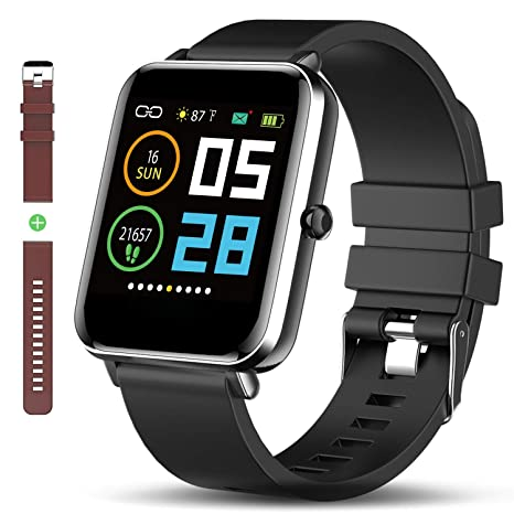 Amazon.com: Bluetooth Smart Watch: All-Day Heart Rate Blood ...