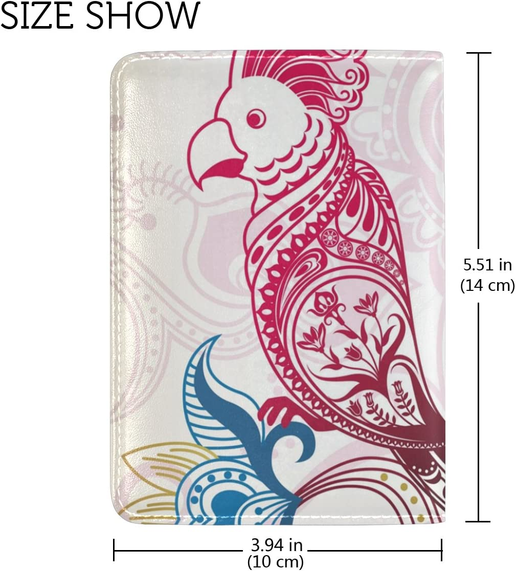 LEISISI Bohemian Pattern Genuine Real Leather Passport Holder Cover Travel Case