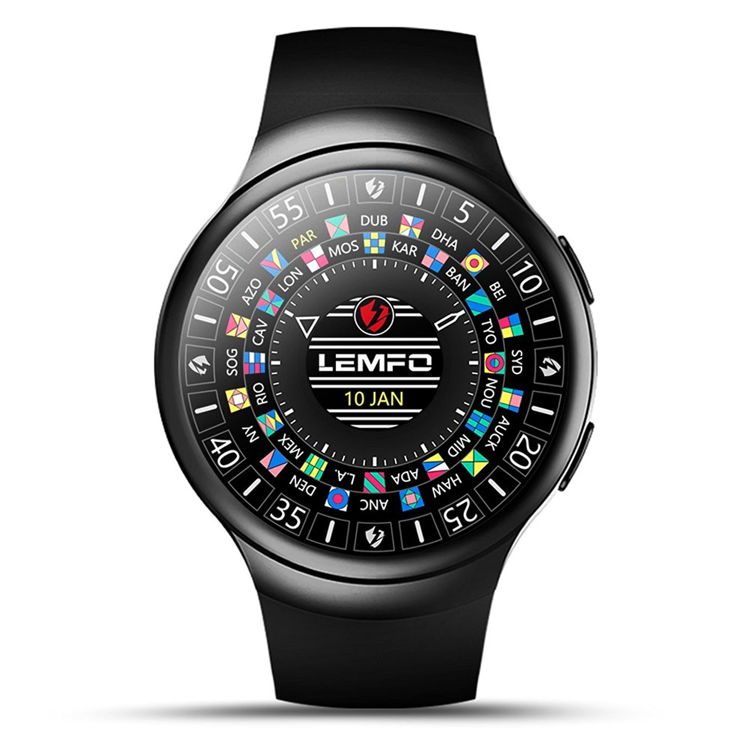 Amazon.com: LEMFO Android 5.1OS 3G Smart Watch Phone WiFi BT ...