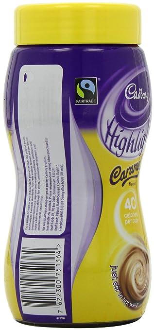 Amazon.com : Cadbury Highlights Caramel Hot Chocolate Jar 220 g (Pack of 3) : Grocery & Gourmet Food