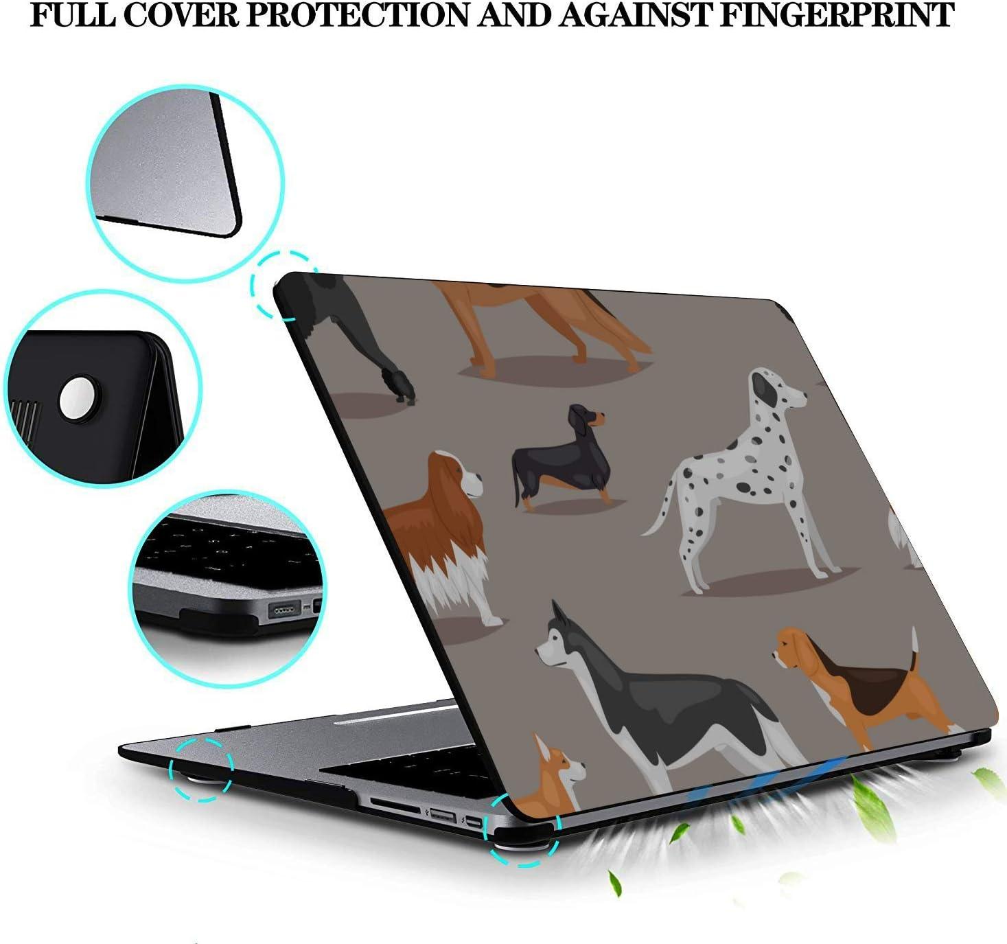 Mac Book Air Case Smart Fierce Animal Pet Great Dane Plastic Hard Shell Compatible Mac Air 11 Pro 13 15 Cover MacBook Air 13 Protection for MacBook 2016-2019 Version