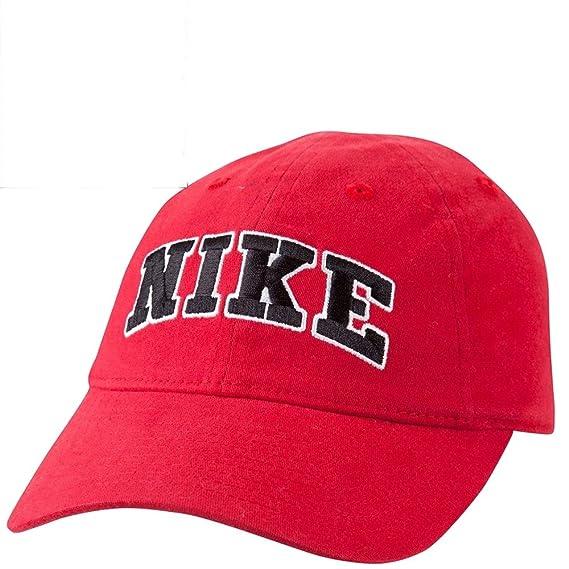 Nike Boy s Bordado Gorra de béisbol Logotipo SZ 4/7-8A2477A, Rojo ...