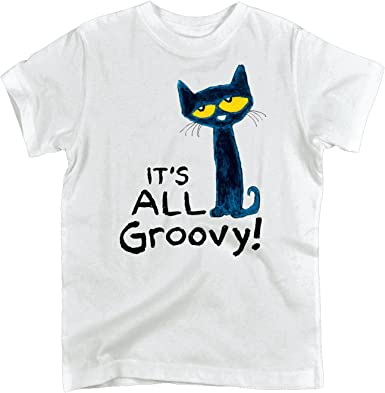 Youth Short Sleeve Tee Pete The Cat It/'s All Groovy