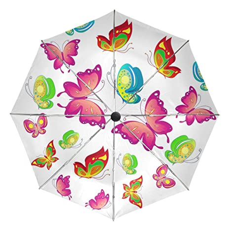 27593928574e Amazon.com : BAIHUISHOP Butterfly Windproof Umbrellas Auto Open ...