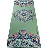 Aozora Combo Yoga Mat. Luxurious, Non-slip, Grips More With Sweat. Ideal for Bikram, Hot Yoga, Ashtanga, Pilates, or Sweaty Practice. Foldable, Reversible, Eco-Friendly.