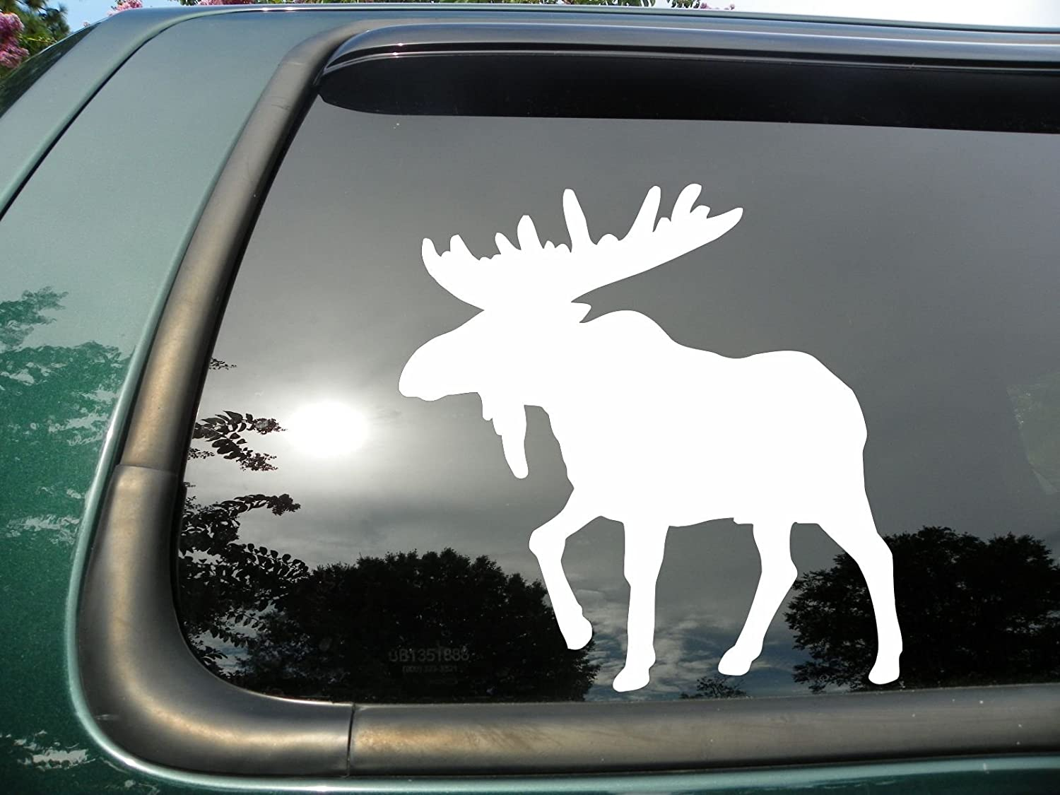 Amazon com moose die cut vinyl window decal sticker for car or truck 4x3 automotive