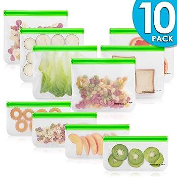 Kaizen Home Goods 10 Pack Reusable Sandwich Bags