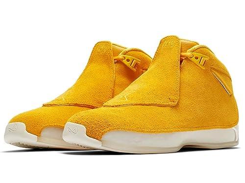 4acae95aa47 Jordan 18 Retro Yellow Ochre Style: AA2494-701 Size: 8.5: Amazon.ca ...