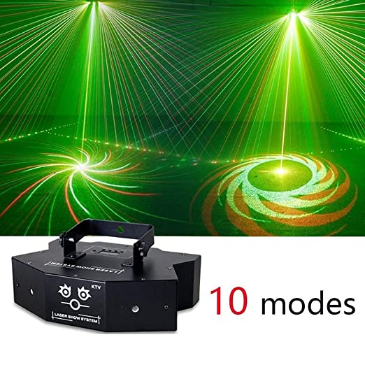 DJ Party luces de sonido activado llevó la etapa del disco de luz ...