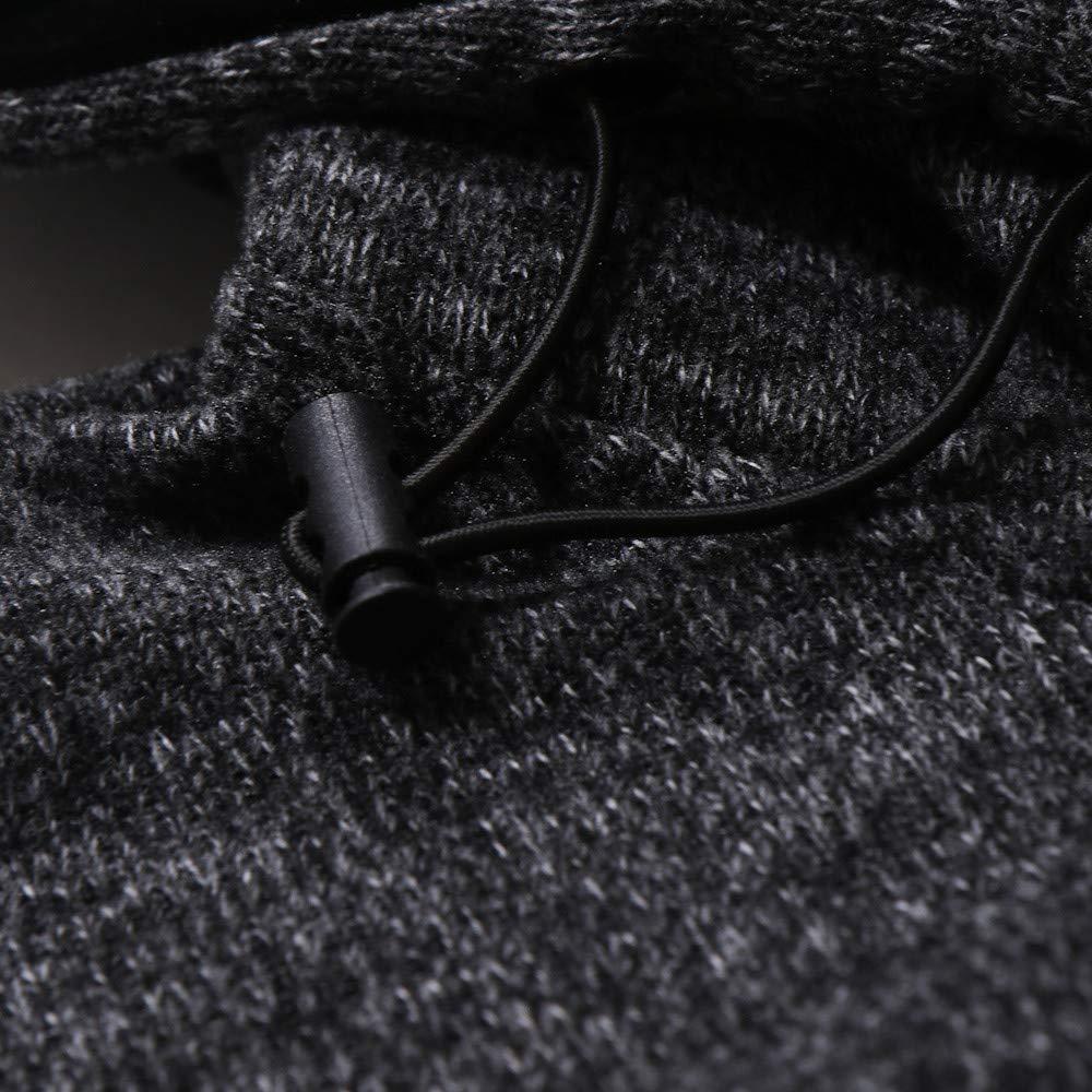 khdug✿ Outwear for Men Mens Autumn Casual Patchwork Long Sleeve Hoodie Sweatshirt Top Outwear