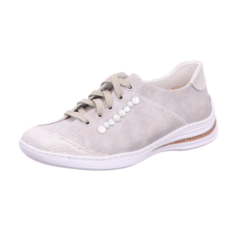 Rieker Zapatos de Cordones Para Mujer Gris White-Silver/Frost 37 EU|white-silver/frost