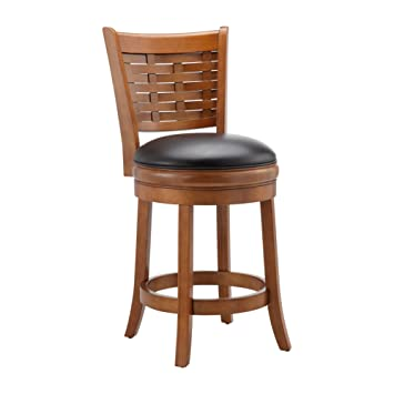 Tremendous Ball Cast Counter Height Swivel Stool 24 Distressed Oak Pabps2019 Chair Design Images Pabps2019Com