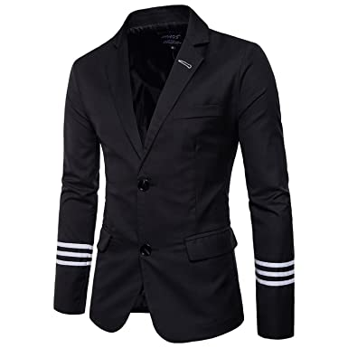 Mens Notched Lapel Single Breasted Two Button Dress Suit Jacket Blazer Costume Homme Men Wedding Prom