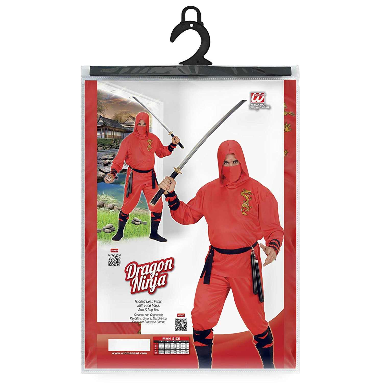 WIDMANN 01333 ? Adultos Disfraz de dragón Ninja, con Capucha ...