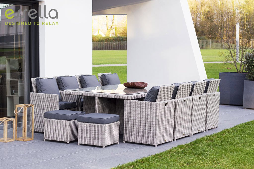 essella polyrattan essgruppe vienna 8er in vintage weiss geflecht halbrund jetzt bestellen. Black Bedroom Furniture Sets. Home Design Ideas