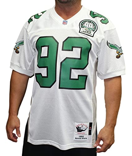 Ness Authentic amp; White Reggie Jersey Mitchell 1992 com Outdoors Eagles Amazon Sports Philadelphia large