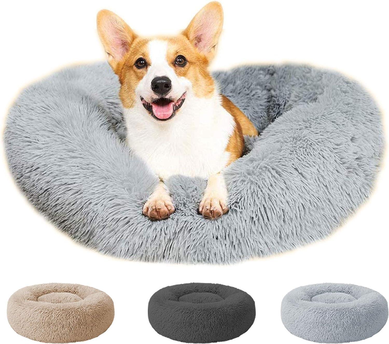 Round Donut Cuddler Cat and Dog Bed