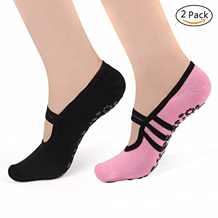 Amazon.com : MsFeng Womens Ballet Grip Socks for Barre ...