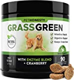 PetHonesty GrassGreen Grass Burn Spot Chews for Dogs - Dog Pee Lawn Spot Saver Treatment Caused by Dog Urine - Cranberry…