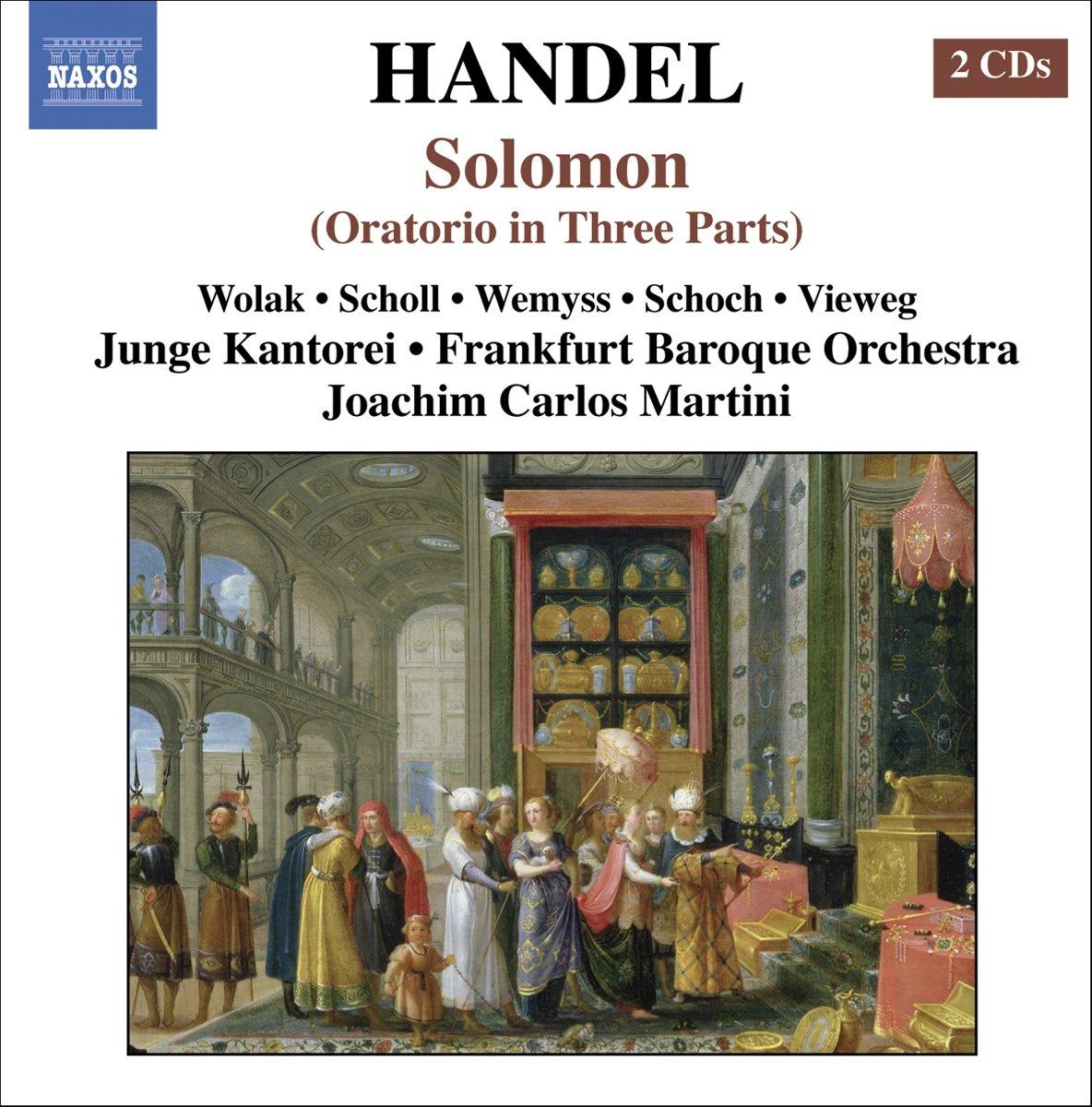 George Frideric Handel, Joachim Carlos Martini, Frankfurt Baroque  Orchestra, Junge Kantorei - Handel: Solomon - Amazon.com Music
